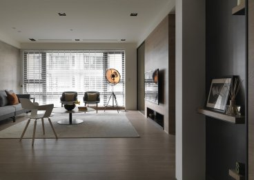 新湖菲林现代简约三室二厅装修效果图