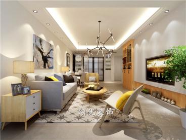 旭日上城二期三室二厅125平装修效果图