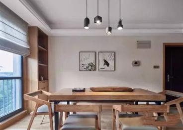 恒大城现代简约三室二厅装修效果图