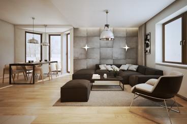 广厦天都城宾果公寓二室一厅85平装修效果