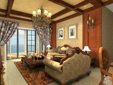 雅居乐花园142平三室一厅装修效果图