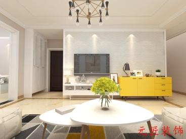 三庆燕柳园137平三室二厅装修效果图