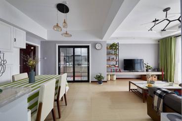 清华大溪地三室二厅101平装修效果图