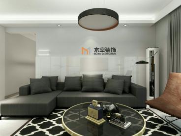 汇林阁现代简约三室二厅装修效果图