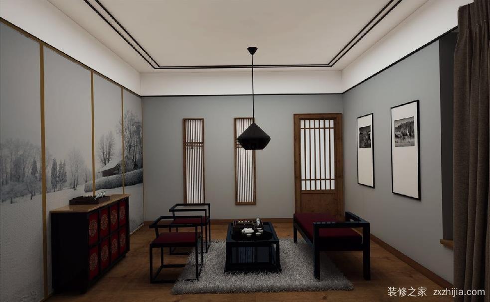 免费获取报价 免费获取户型设计 皇茶苑中式效果图 【卧室】二楼中间