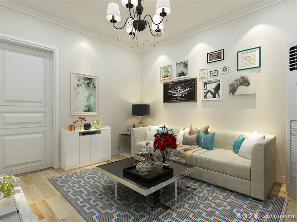 中山门一室一厅50平装修效果图