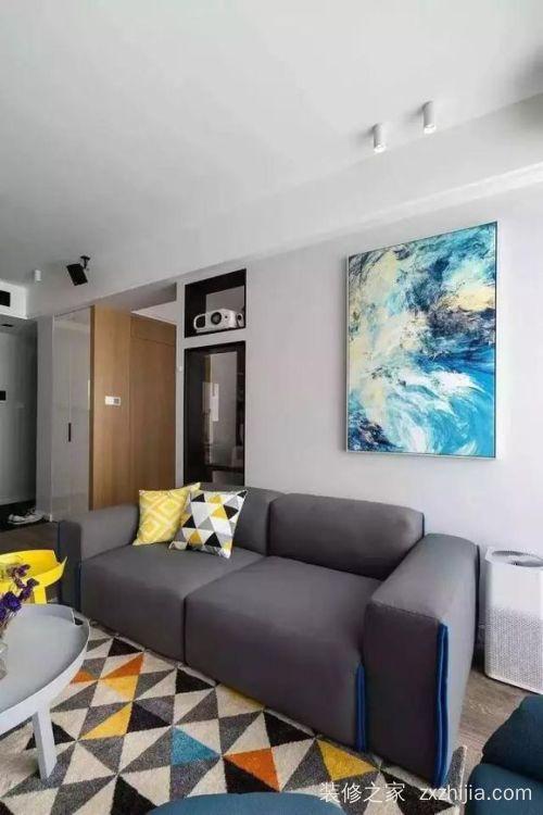 绿地汉口中心现代简约二室二厅装修效果图