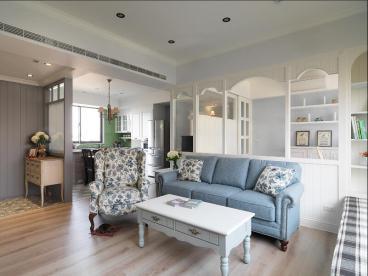 纯棉时代美式三室二厅装修效果图