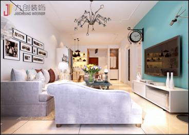 玉门河122平三室二厅装修效果图