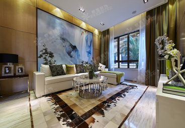 世茂公元三室二厅136平装修效果图