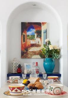 绿城翡翠湖玫瑰园地中海四室二厅装修效果图