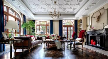 塞纳庄园美式四室二厅装修效果图