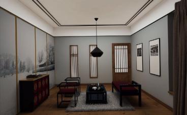 皇茶苑中式风格全包装修效果图
