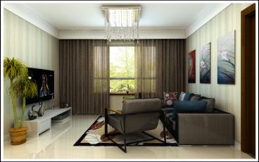 新悦轩现代简约二室二厅装修效果图