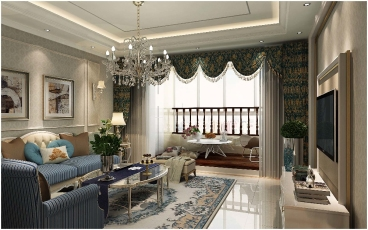 仁和盛庭现代简约四室二厅装修效果图
