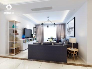 绿都万和城现代简约三室二厅装修效果图