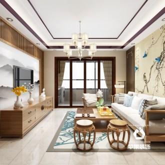 中海龙城公馆139平中式装修效果图