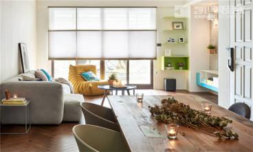佳乐福新寓现代简约三室二厅装修效果图