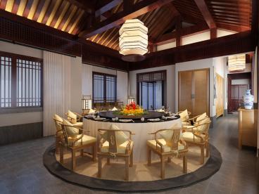 中天托斯卡纳新中式四室二厅装修效果图