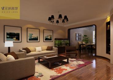 舜兴花园100平三室一厅装修效果图