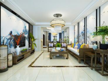 宁河朝阳花园三室二厅158平装修效果图