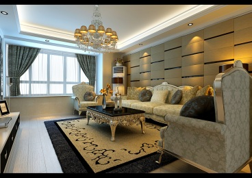 百合新城三室二厅130平装修效果图
