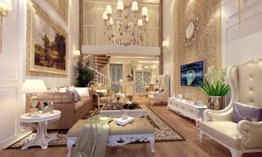 半岛一号五室二厅简欧装修效果图