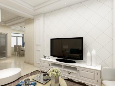 汇鑫苑92平三室二厅装修效果图