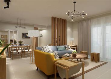 新湖公寓宜家三室二厅装修效果图