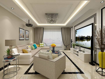 金都檀宫现代简约三室二厅装修效果图