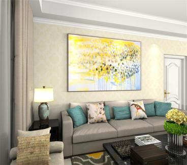 银亿东城三室二厅现代简约装修效果图