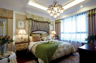 武海中华名城四室二厅美式装修效果图