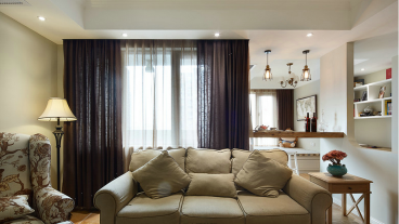 环山国际三室二厅美式装修效果图