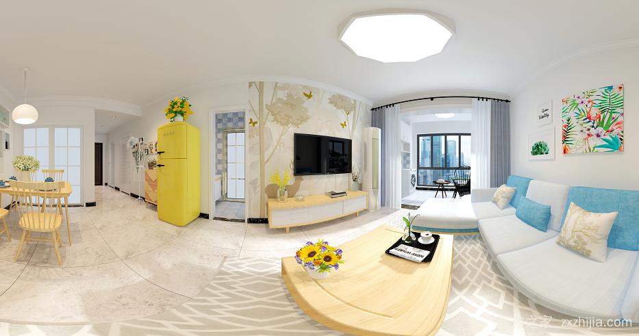 中房瑞致国际二室二厅90平装修效果图