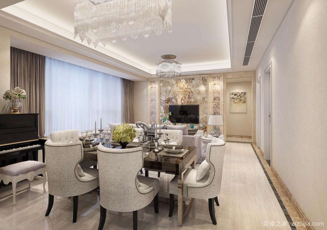 汉森吉祥龙欧式古典半包三室一厅装修效果图