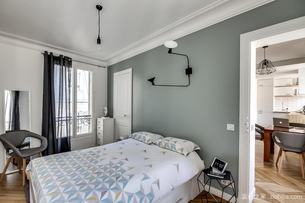 皇冠国际现代简约三室二厅90平装修效果图