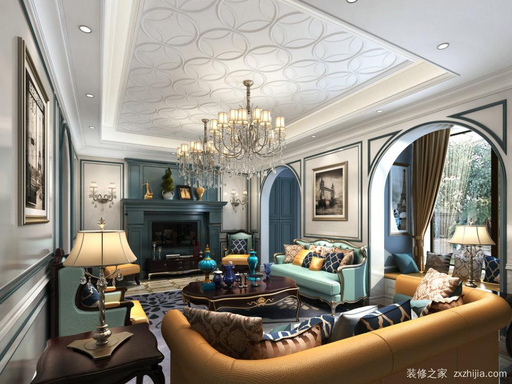 宏发天汇城三室二厅欧式古典装修效果图