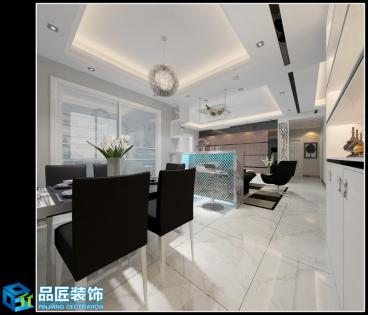 东方国际花园四室二厅现代简约装修效果图