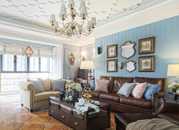 珠江御景湾地中海三室二厅装修效果图