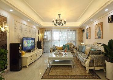 海航中国集锦润青城四室三厅欧式古典装修效