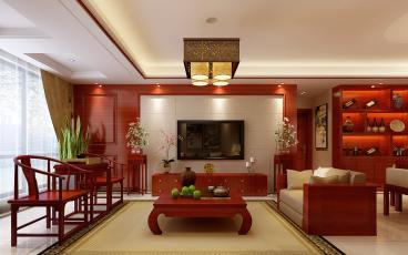 绿缘居四室二厅中式装修效果图