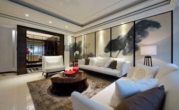 中渝香奈公馆新中式三室一厅装修效果图