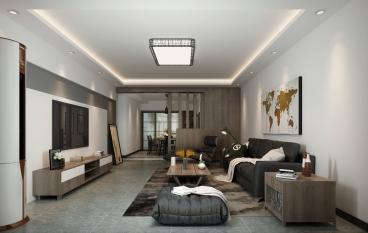 泰宏建业国际城121平三室二厅装修效果图