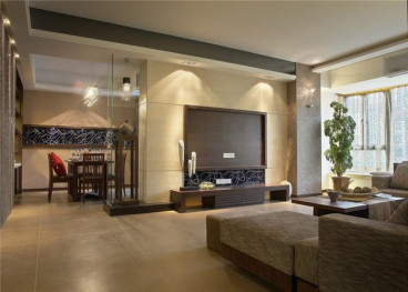 中铁丽景书香全包三室二厅装修效果图