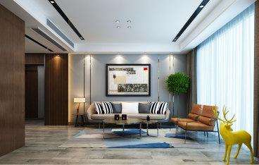 海尔云世界三室二厅140平装修效果图