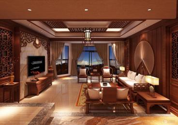 万科金域华府花城新中式四室二厅装修效果图