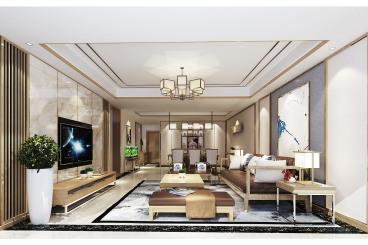 云秀康园别墅现代简约三室一厅装修效果图