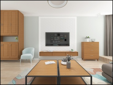 盛世豪庭美式123平装修效果图