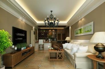 宝环小区半包三室二厅装修效果图