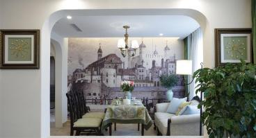 鹭岛国际五室二厅190平装修效果图